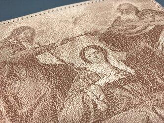 【ディエゴ・ベラスケス】「聖母戴冠」 ヌメ革 レーザー加工 マウスパッド、コースター、またはインテリアにの画像