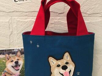 Eさまオーダー品・柴犬ショルダートートバッグの画像