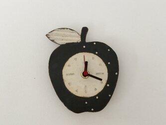 りんごの掛け時計 (陶器)の画像