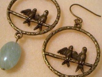 鳥チャーム&天然石の画像