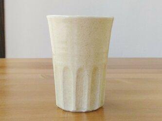 しのぎのフリーカップ(クリーム色)の画像
