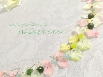 花びらピアス&イヤリング*greenの画像