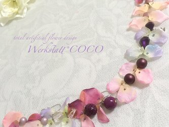 花びらピアス&イヤリング*purpleの画像