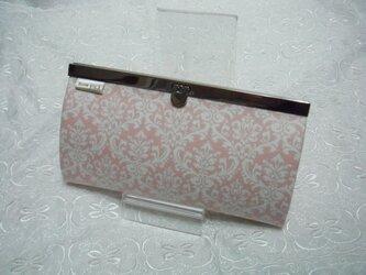 長財布(damasuku 桃×白)の画像