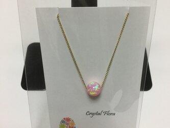 桜色の京都オパールプチネックレスの画像