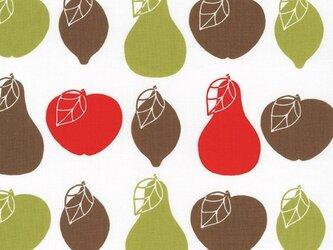 Westfalenstoffe コットンカットクロス フルーツサラダ りんご 洋梨の画像
