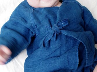 ベビー藍染肌着の画像