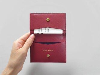 シンプルなカードケース - Card Case - バーガンディ:カレン クオイルの画像