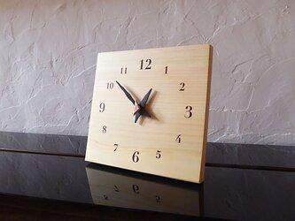 ヒノキの時計 22センチ 075s 文字盤茶色の画像