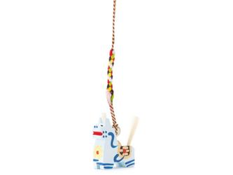 八幡馬 ストラップ 白の画像