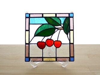 ステンドグラスパネル サクランボ Mサイズの画像