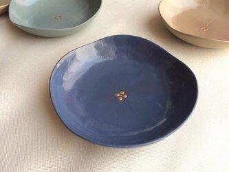 華の豆皿 (群青の紫陽花) 乾漆の画像