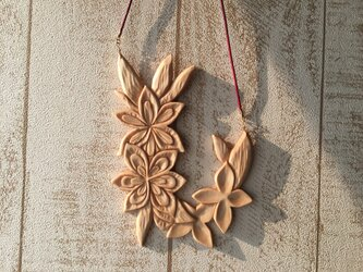 wooden flowers mix natural 010の画像