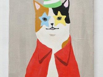星の目のネコ F4サイズ絵画の画像