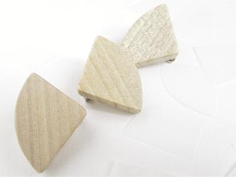 木製のシンプルブローチ flat series No.2 (br012)の画像