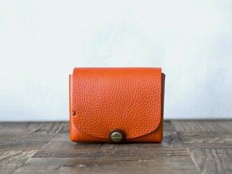 イタリア製牛革の二つ折り財布2  /   ライトブラウン / ダークブラウン※受注製作の画像