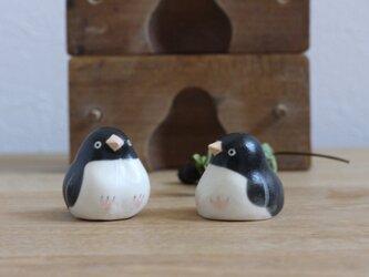 【水無月・新作】アデリーペンギン(マット) 国産ヒノキの木箱入り ※受注制作の画像