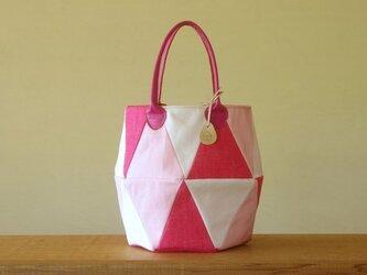 三角トート ピンクの画像