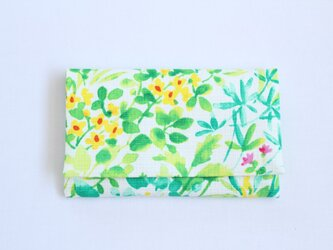 懐紙、通帳いれ botanical greenの画像