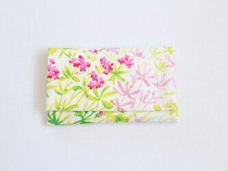 懐紙、通帳いれ botanical light greenの画像
