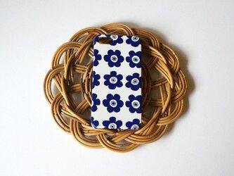 【iPhone/Android】側表面印刷*ハード型*スマホケース「anemone ( deep blue )」の画像