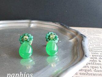 [ピアス] tubutubu petit/greenの画像