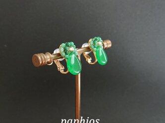 [イヤリング] tubutubu petit/greenの画像