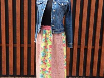 パッチワークのスカート(ピンク)の画像