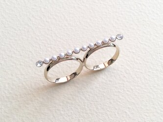 Twinkle Line Ring パールの画像
