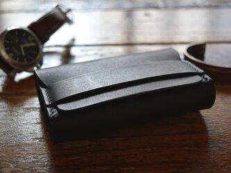 [受注生産品] 栃木レザー 名刺ケース(BLACK) MNC-03の画像