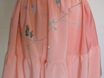 送料無料 花柄の着物地で作ったミニスカート 2611の画像