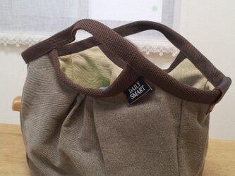 帆布グラニーバッグ(2)(茶)値下げの画像