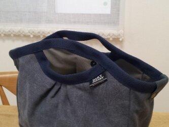 帆布グラニーバッグ(1)(紺)値下げの画像