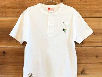 ボルダリング 刺繍 ヘンリーネックTシャツの画像