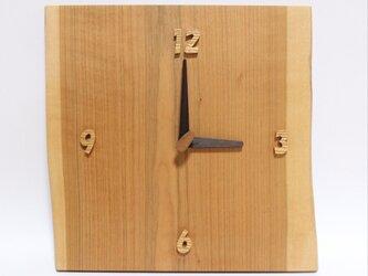 無垢 掛け時計〈山さくら〉1点ものの画像