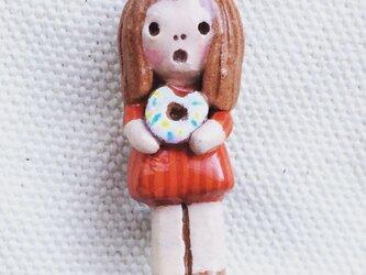 ブローチ【ドーナツ】の画像