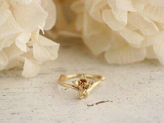 K18GP 枝と花のリングの画像