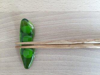 枝豆のお箸置きの画像