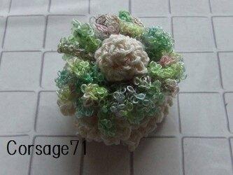 【Sold】お花畑のコサージュ71の画像