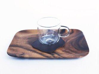 革のコースター コーヒーの画像