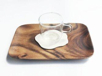 革のコースター ミルクの画像