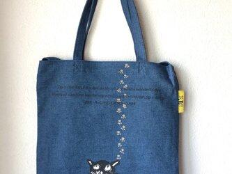 tote bag*cat デニムの画像