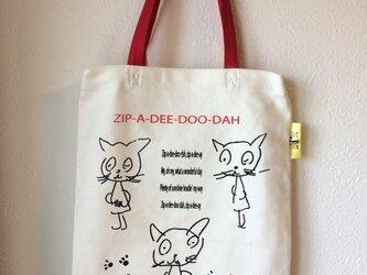 tote bag*cat 3hiki-1の画像