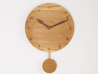 木製 振り子時計 楢材7の画像