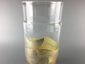 ビールにピッタシ!銀彩グラスの画像