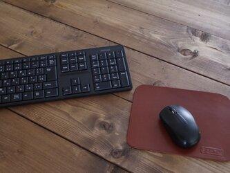 栃木レザーのマウスパッド ブラウンの画像