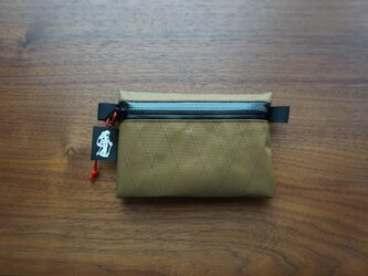 flat pouch S⁺ x-pac coyote brownの画像