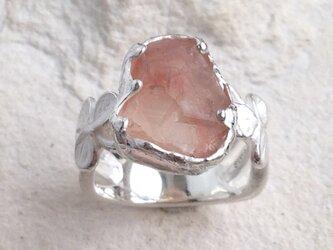 「B様オーダー品」ストロベリークォーツ原石小さな幸せリングの画像