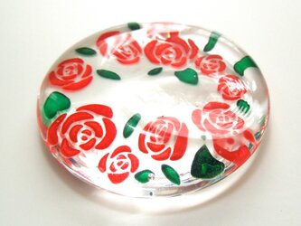 赤い薔薇の箸置きの画像