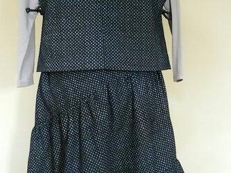 斜めギャザースカートとかぶりベストの画像